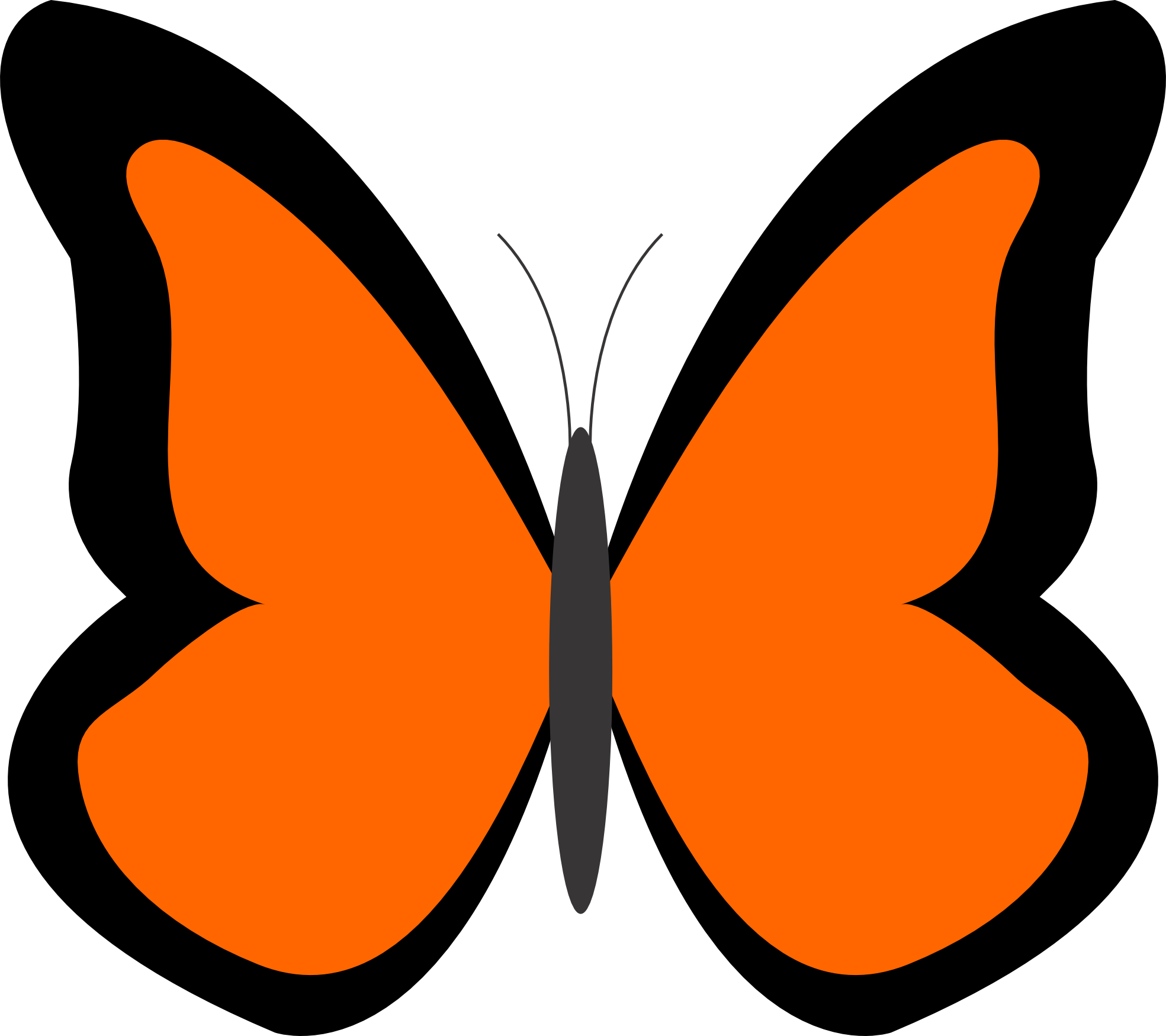 clipart library 5 clipart colored butterfly. Orange