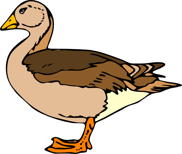 banner freeuse Duck clipart black and white. Clip art at clker