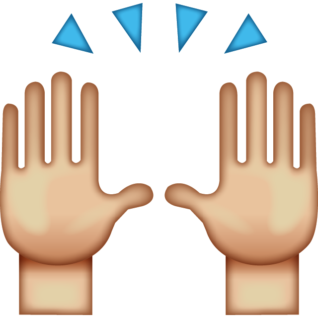 vector black and white library 5 clipart high five. Apple color emoji computer
