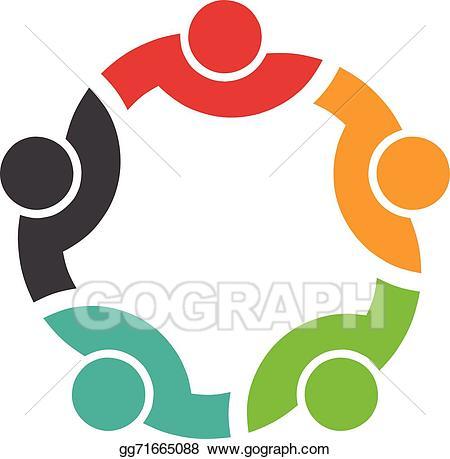 jpg royalty free stock Vector art congress logo. 5 clipart team