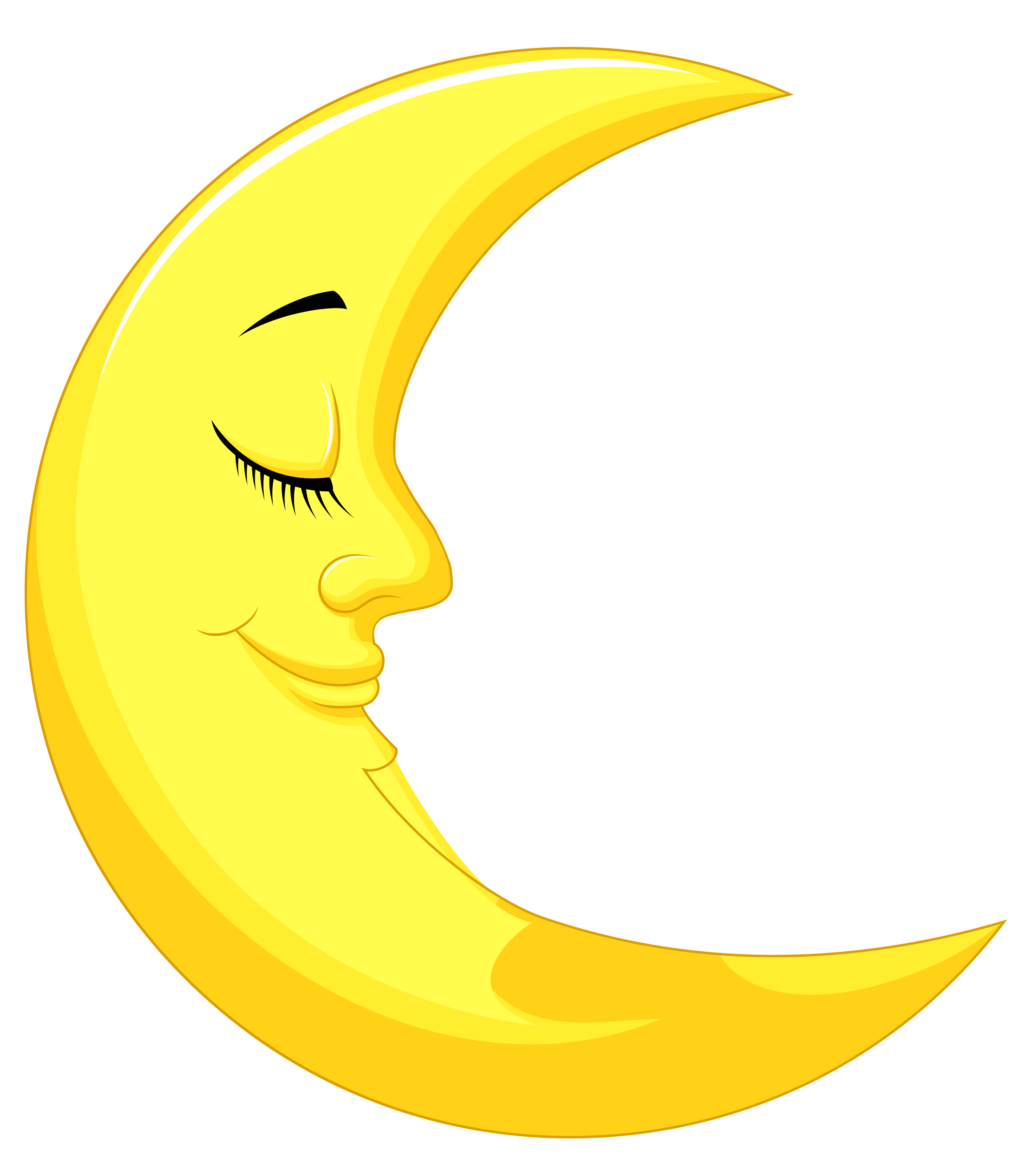 picture freeuse 5 clipart yellow. Cute moon png picture