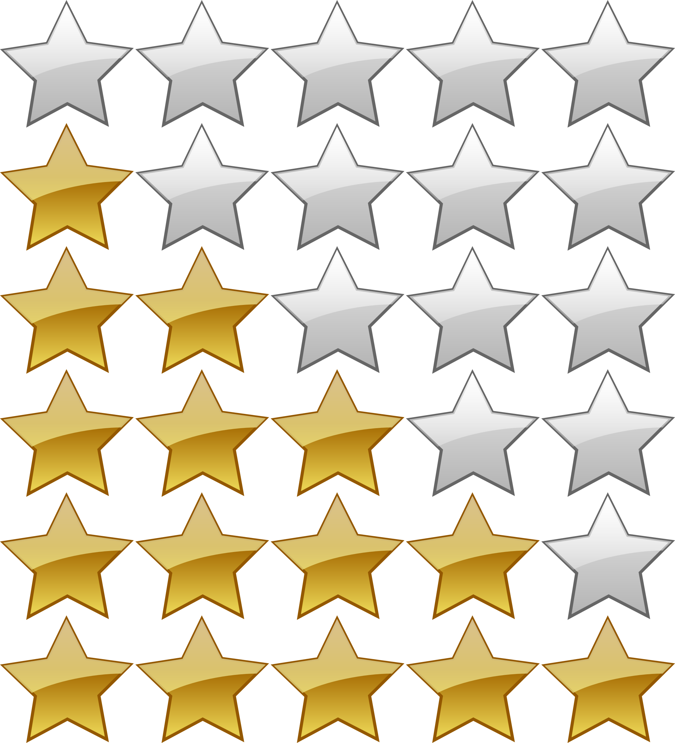 image library 5 clipart yellow. Star rating system big