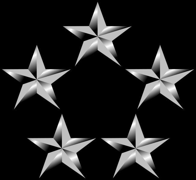 vector transparent download Five Star General Clipart