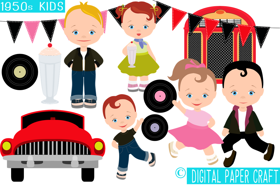 graphic freeuse  s transparent png. 50s clipart 50 kid.