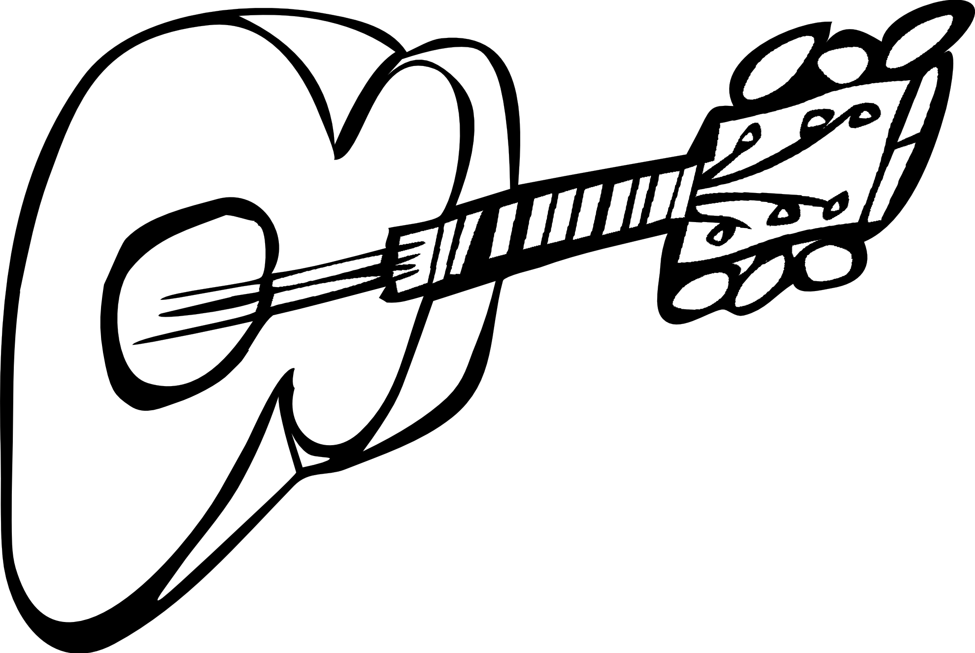 clipart free library 50s clipart black and white. Electric guitar panda free