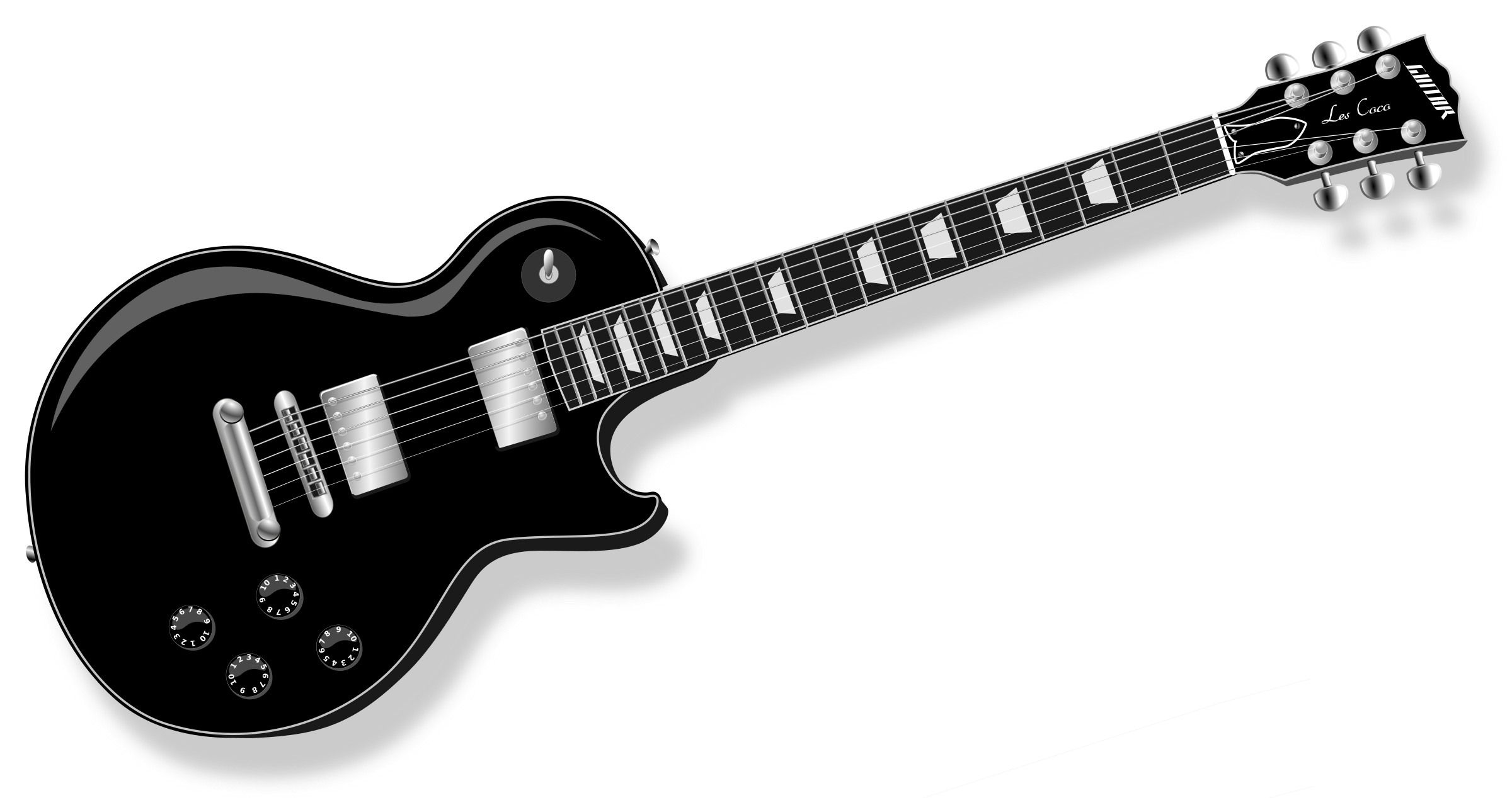 clipart library 50s clipart colorful guitar. Lp black icons png