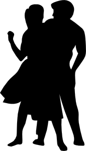 vector library download 50s clipart couple. Dancing fifties clip art