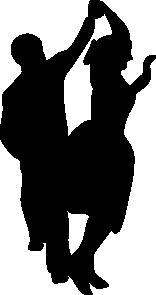 vector library download Dancing fifties clip art. 50s clipart couple