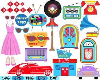 graphic free  s clip art. 50s clipart radio
