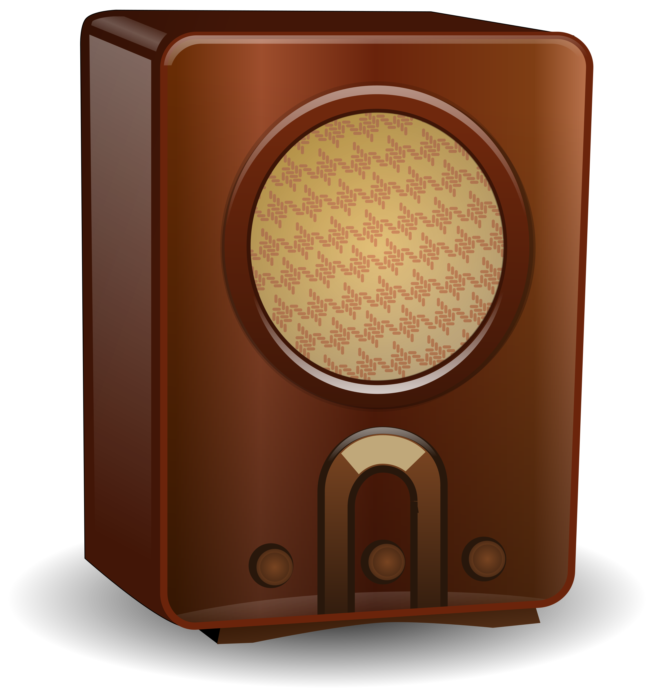 banner stock 50s clipart radio. Transparent background free on