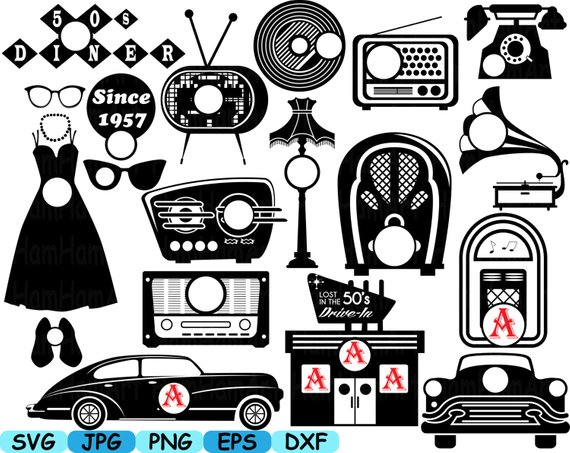 banner library download 50s clipart radio. Pin on products