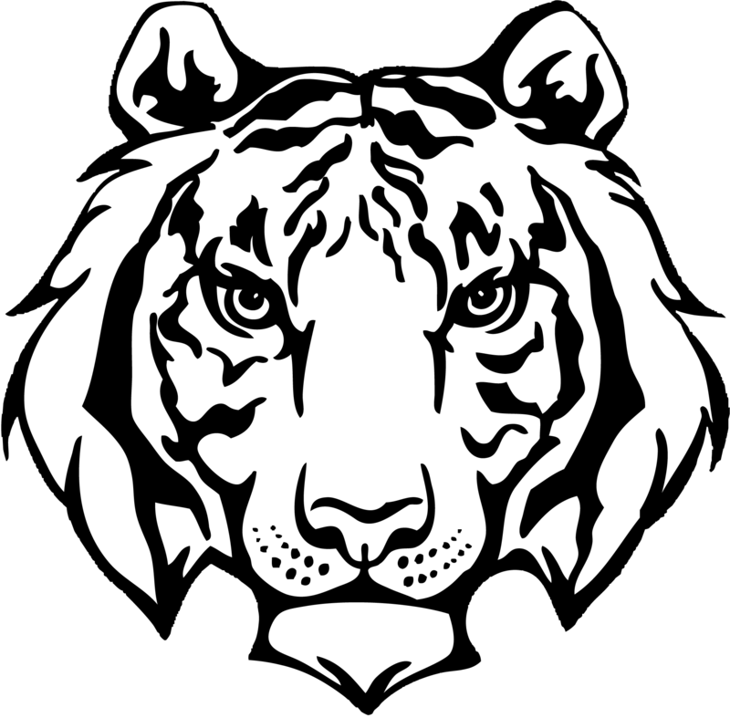 clip royalty free download Cannonsburg elementary challenge k. Transparent tiger black and white