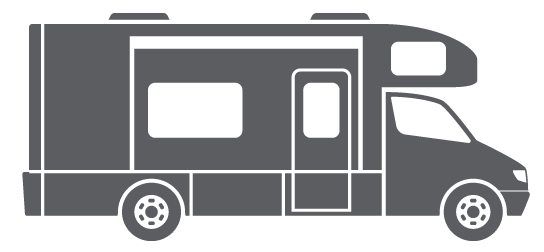graphic freeuse download Rv mackin street customs. 5th wheel camper clipart.