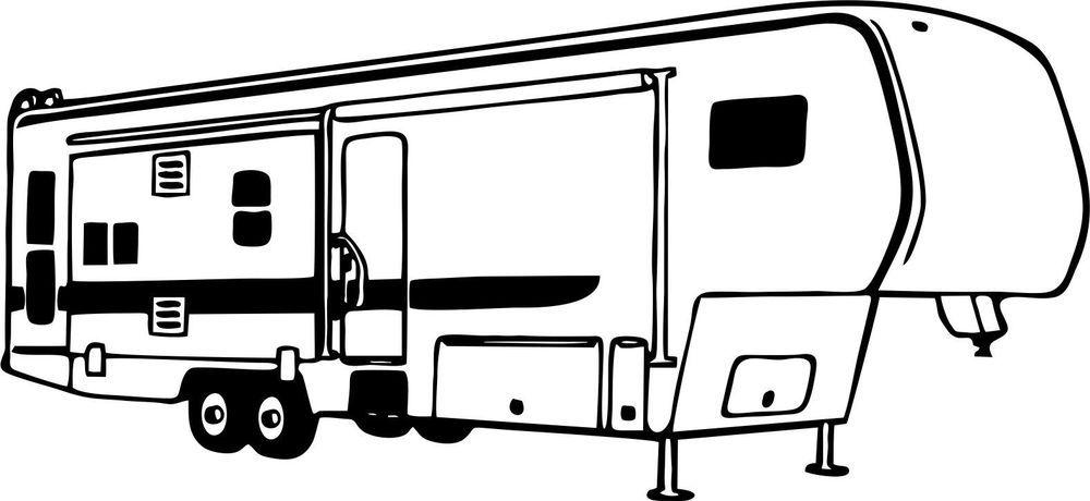 clip art free library Rv vinyl clipartclipartfox projects. 5th wheel camper clipart