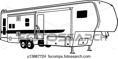 svg stock 5th wheel camper clipart. Rv free download best