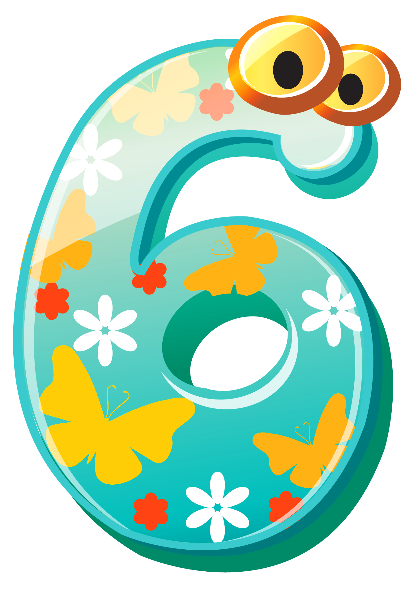 image royalty free download 6 clipart. Cute number six png