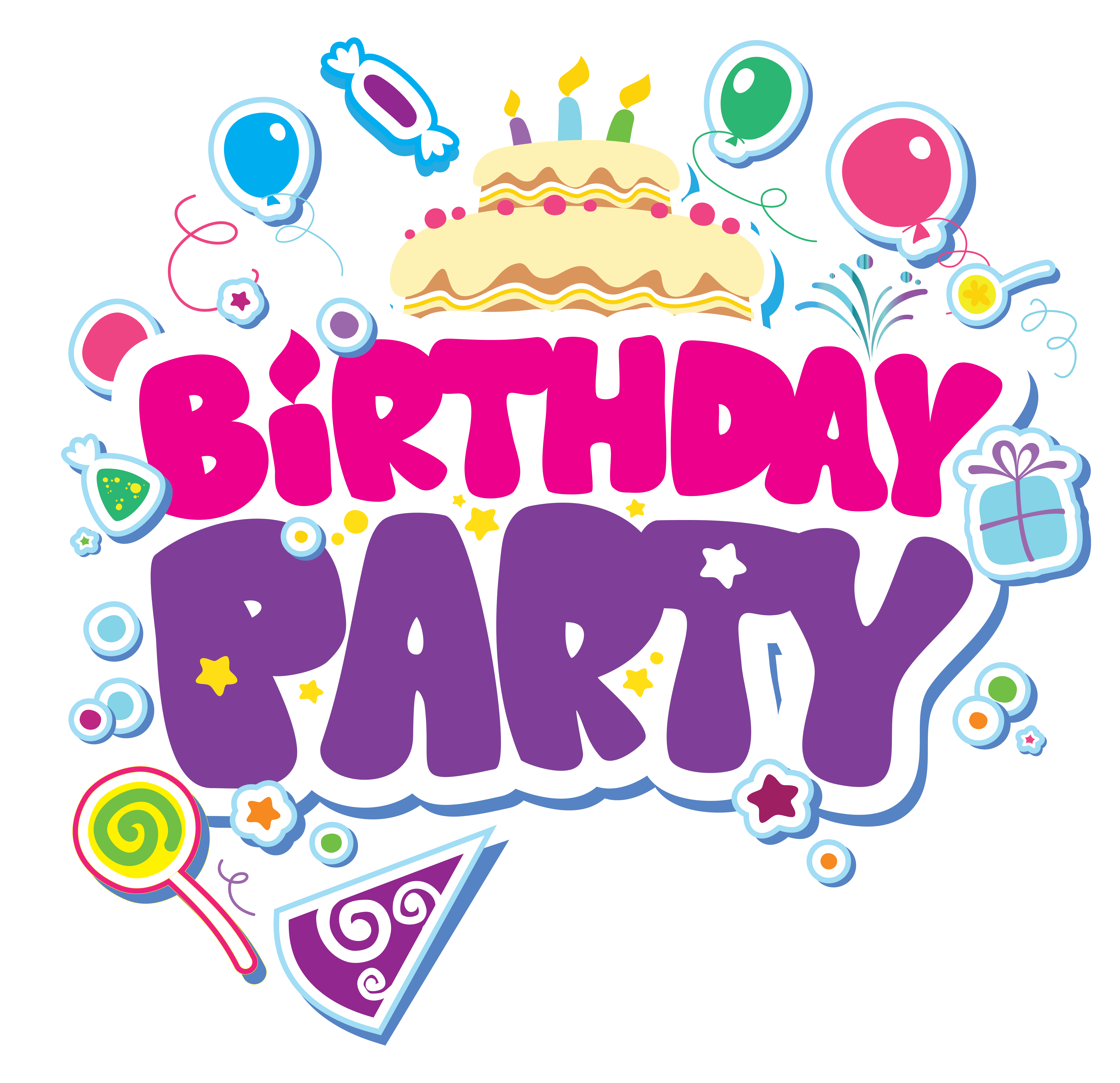 vector library download Las vegas clipart happy birthday. Party png picture bday