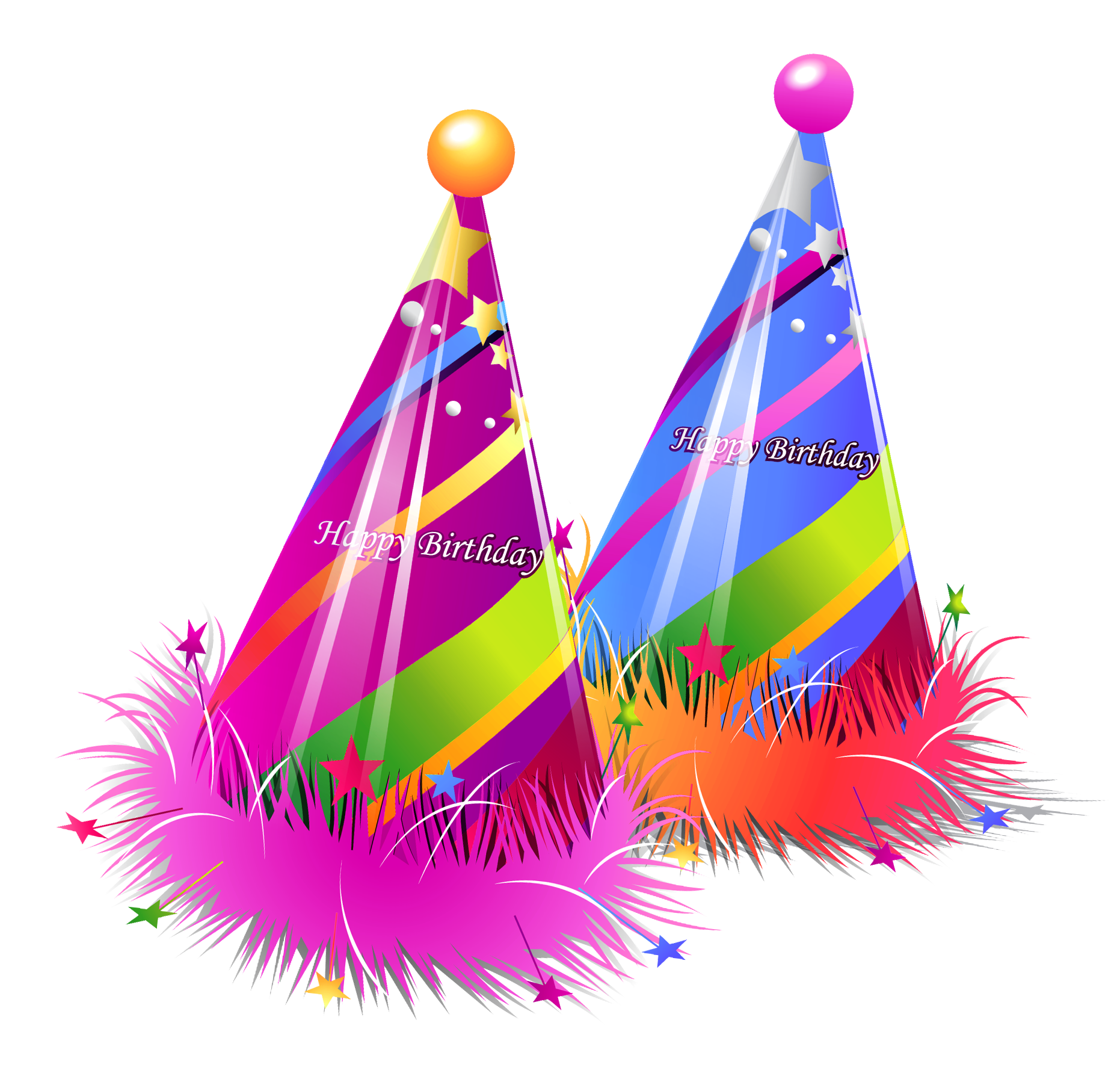 graphic free Happy party hats transparent. 6 clipart birthday bash.