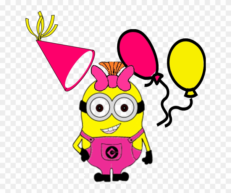 svg freeuse library 6 clipart birthday bash. Minion party by ronald.
