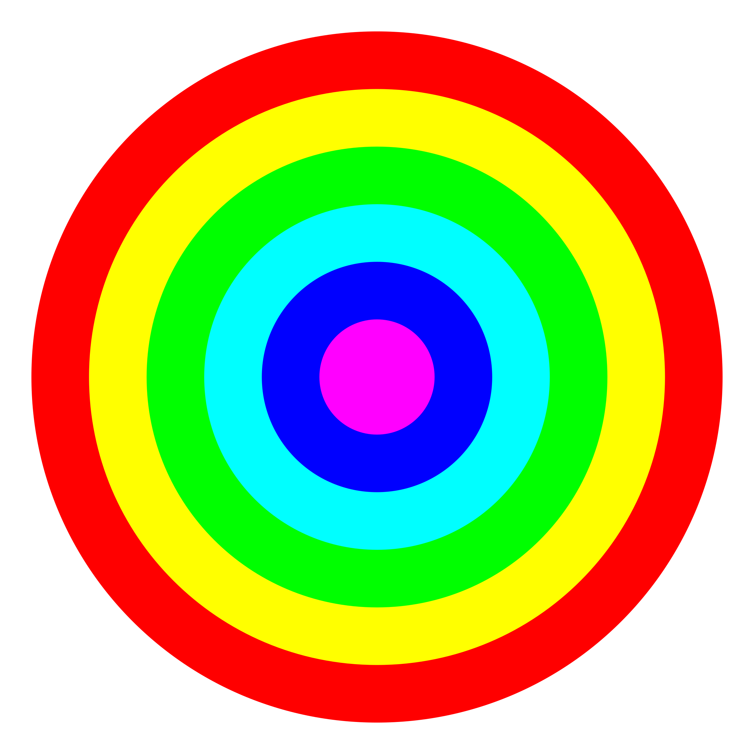banner transparent library 6 clipart circle. Rainbow target color big