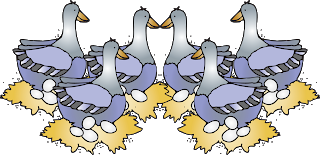 vector black and white 6 clipart geese a laying. First grade la carte