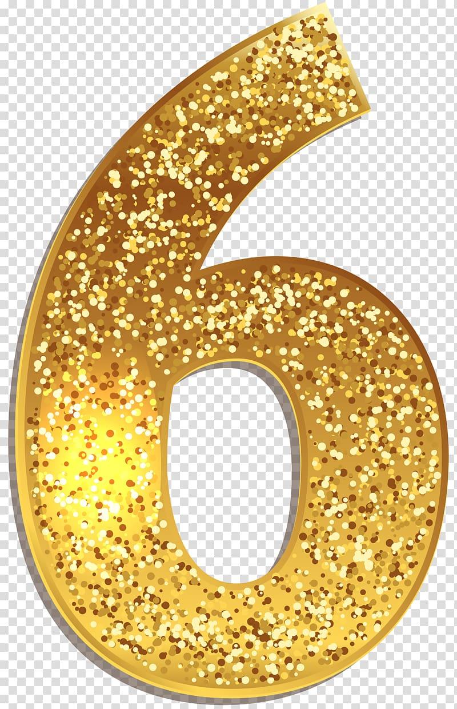 svg transparent stock 6 clipart gold number. Illustration symbol