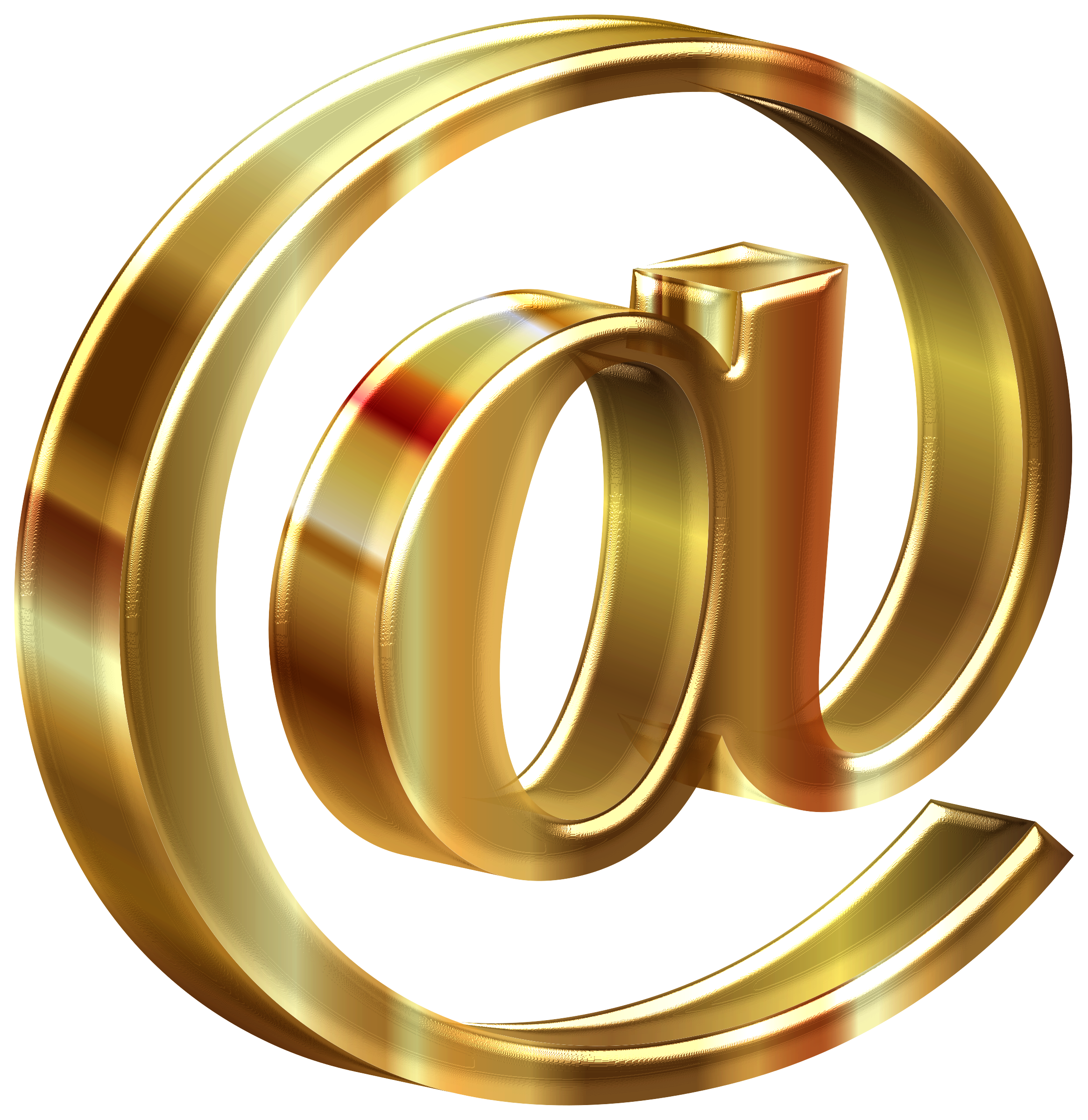 clipart freeuse stock D shiny at sign. 6 clipart gold number