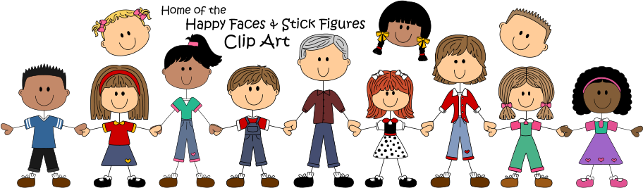 vector freeuse library 6 clipart happy family. Cute graphics for commercial