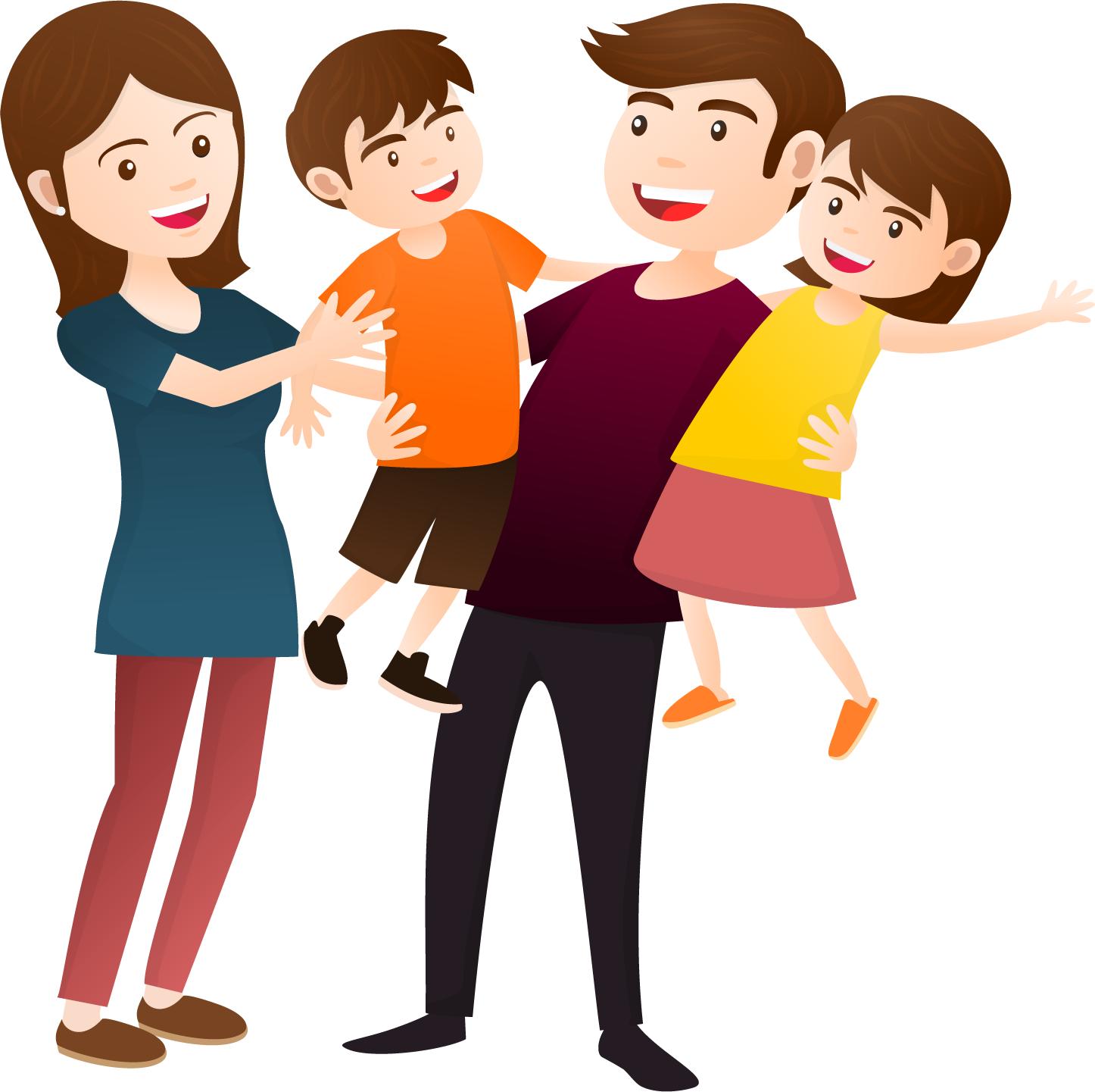 clipart library stock Happy family clipart. Vintage cliparthut free transparent