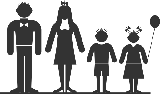 jpg black and white download 6 clipart happy family. I royalty free public