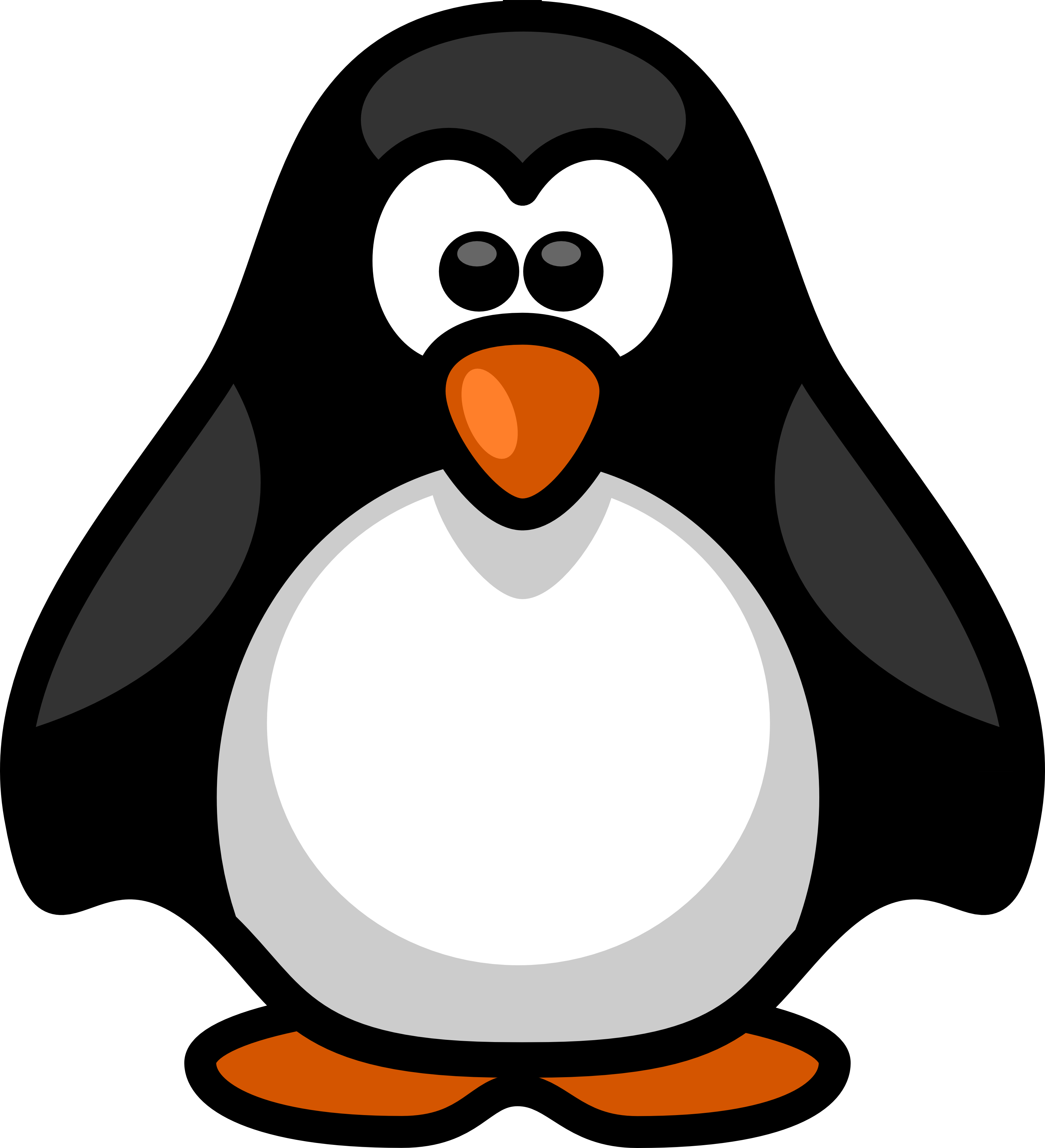 image black and white download Vector penguin drawn. Little coloring penguins pinterest