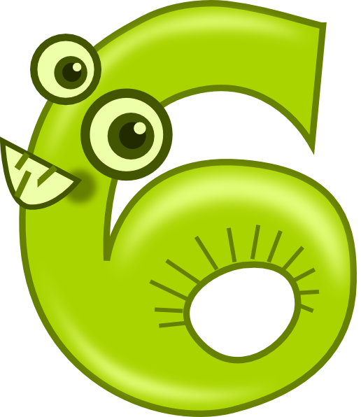 clipart transparent Animal Number Six Clip Art at Clker