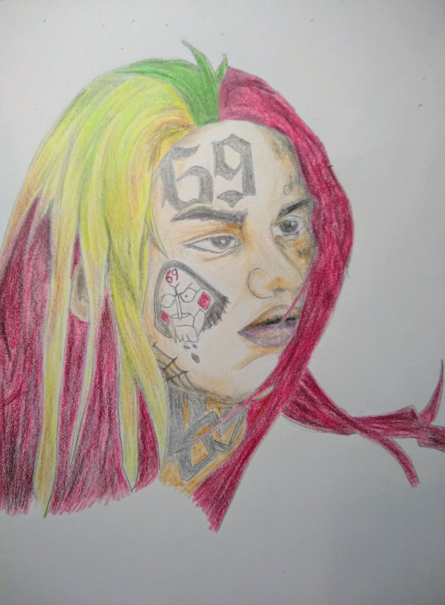 picture freeuse Crayola crayons pencil of. 6ix9ine drawing sketch