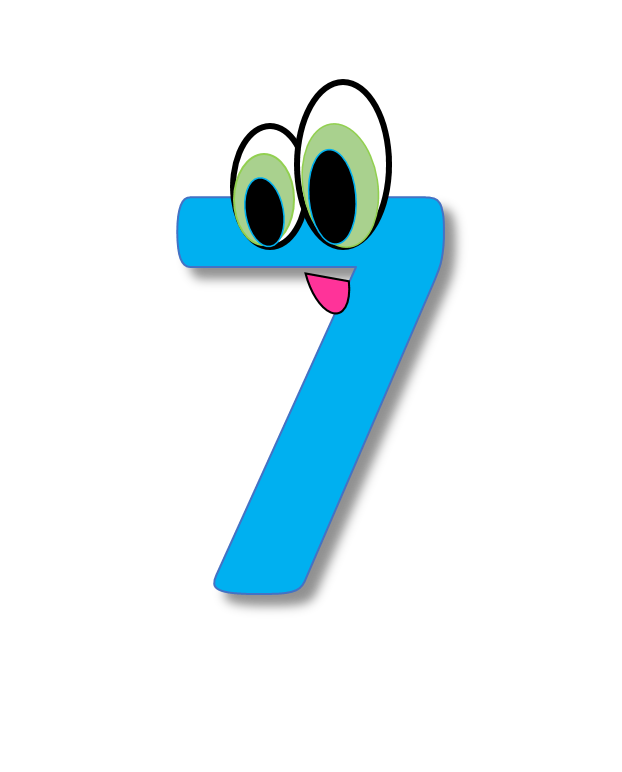picture free 7 clipart. Numbers cliparts creationz number.