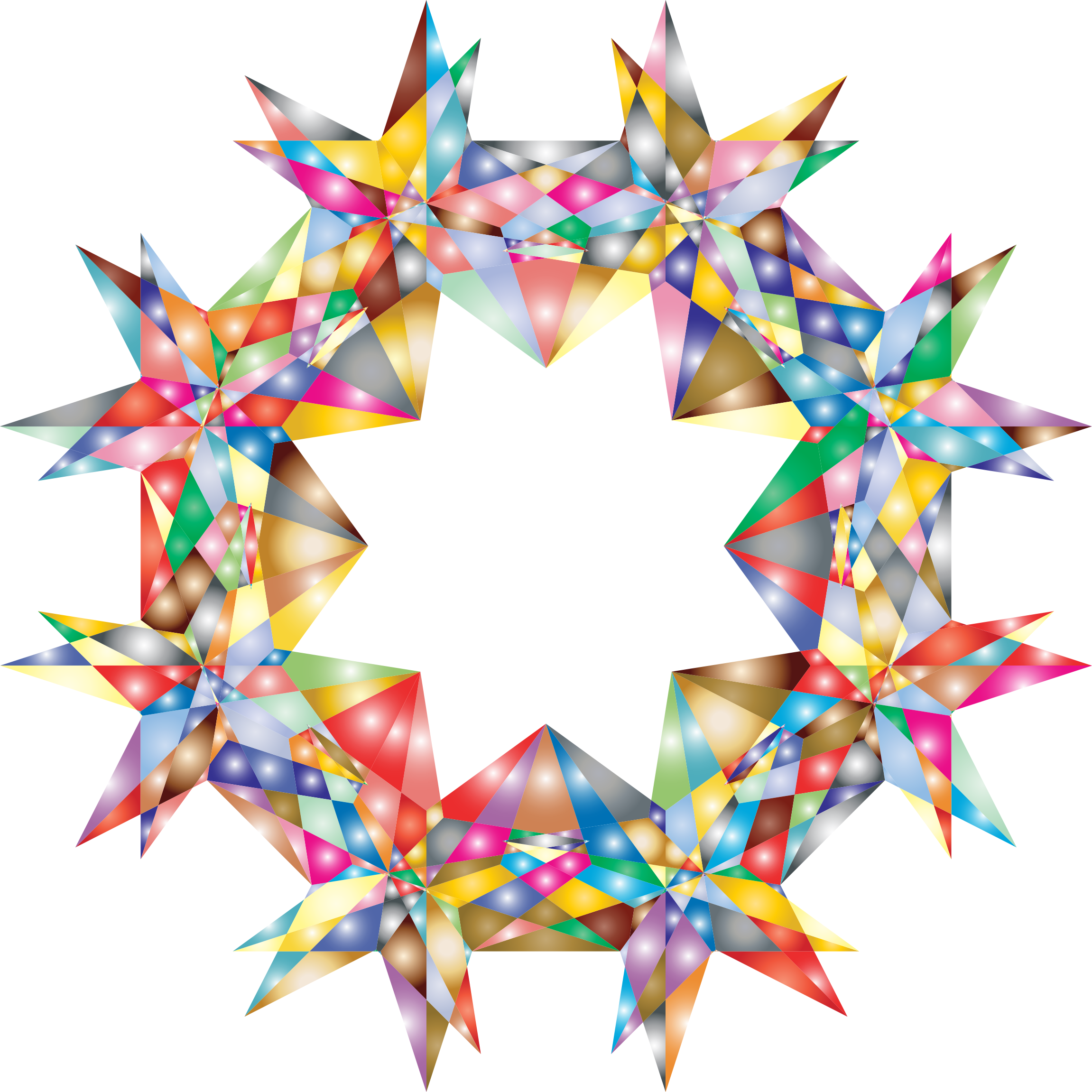 banner transparent download Colorful geometric big image. 7 clipart 7 star