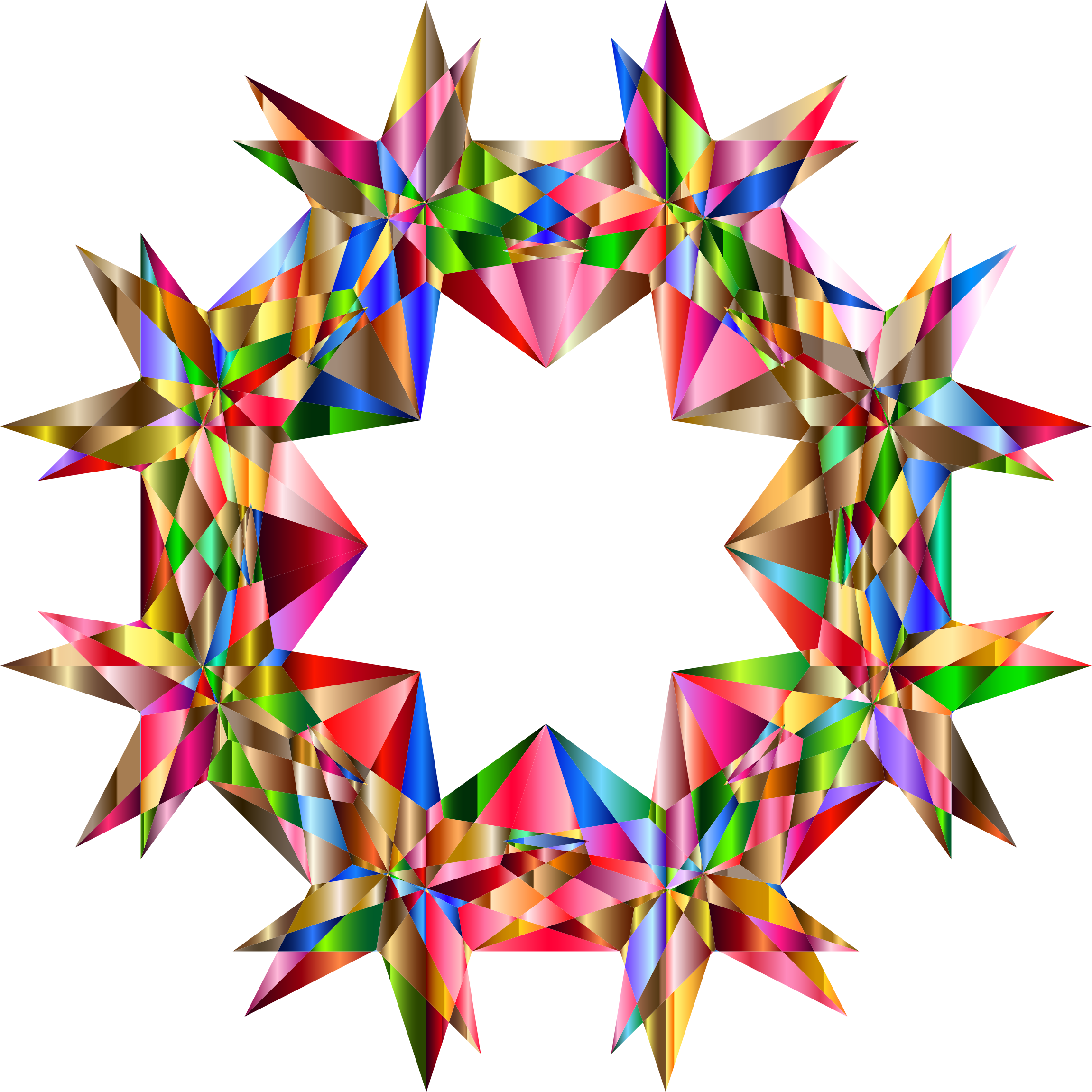 vector library stock 7 clipart 7 star. Colorful geometric variation big