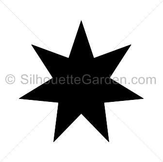 png free library Seven pointed silhouette . 7 clipart 7 star