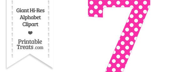 jpg royalty free stock 7 clipart dot. Hot pink polka number