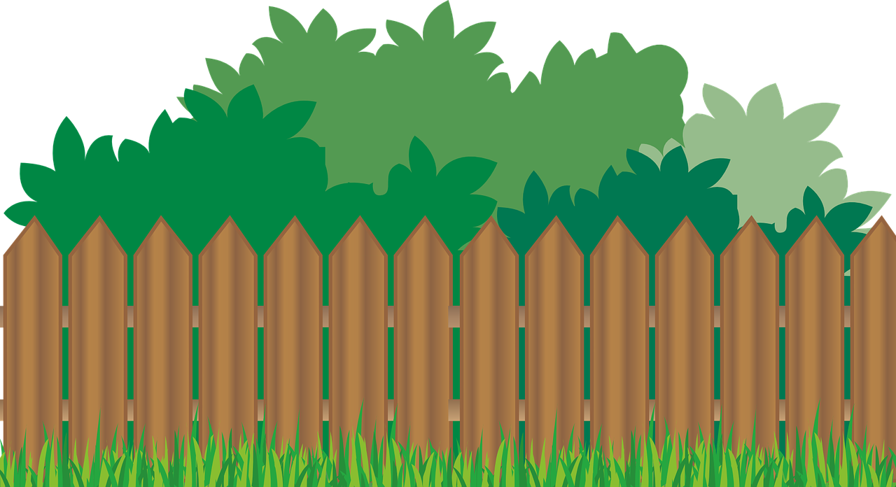 graphic freeuse library Garden clipart trees. Clip art fence best
