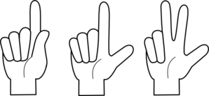 picture library 7 clipart finger. One two three clip.