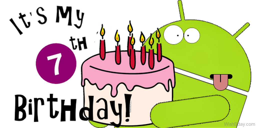 png free  th wishes its. 7 clipart happy 7th birthday