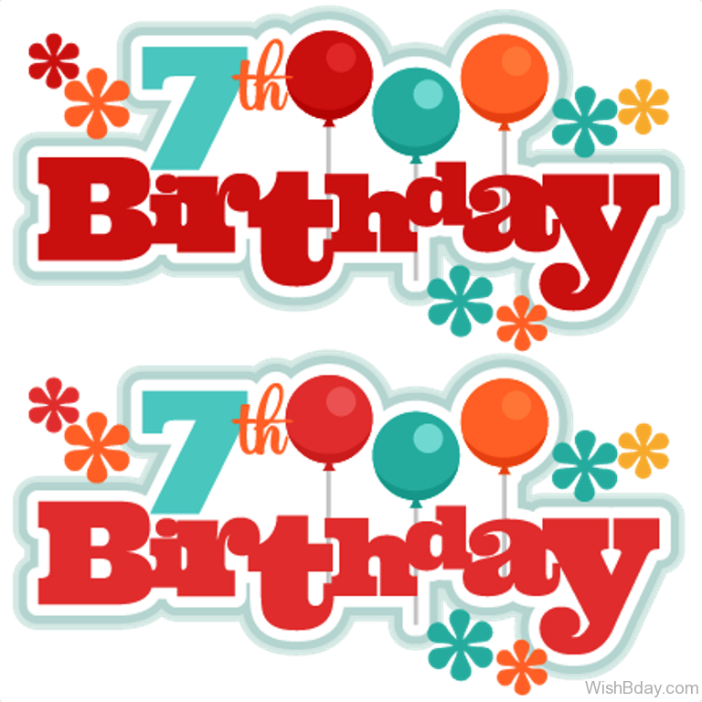 clip art transparent download 7 clipart happy 7th birthday.  th wishes seventh