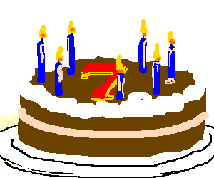 clip art 7 clipart happy 7th birthday. The cake is a