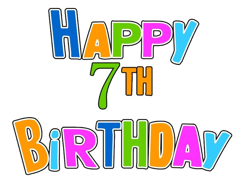 freeuse 7 clipart happy 7th birthday. Th wishes messages lines