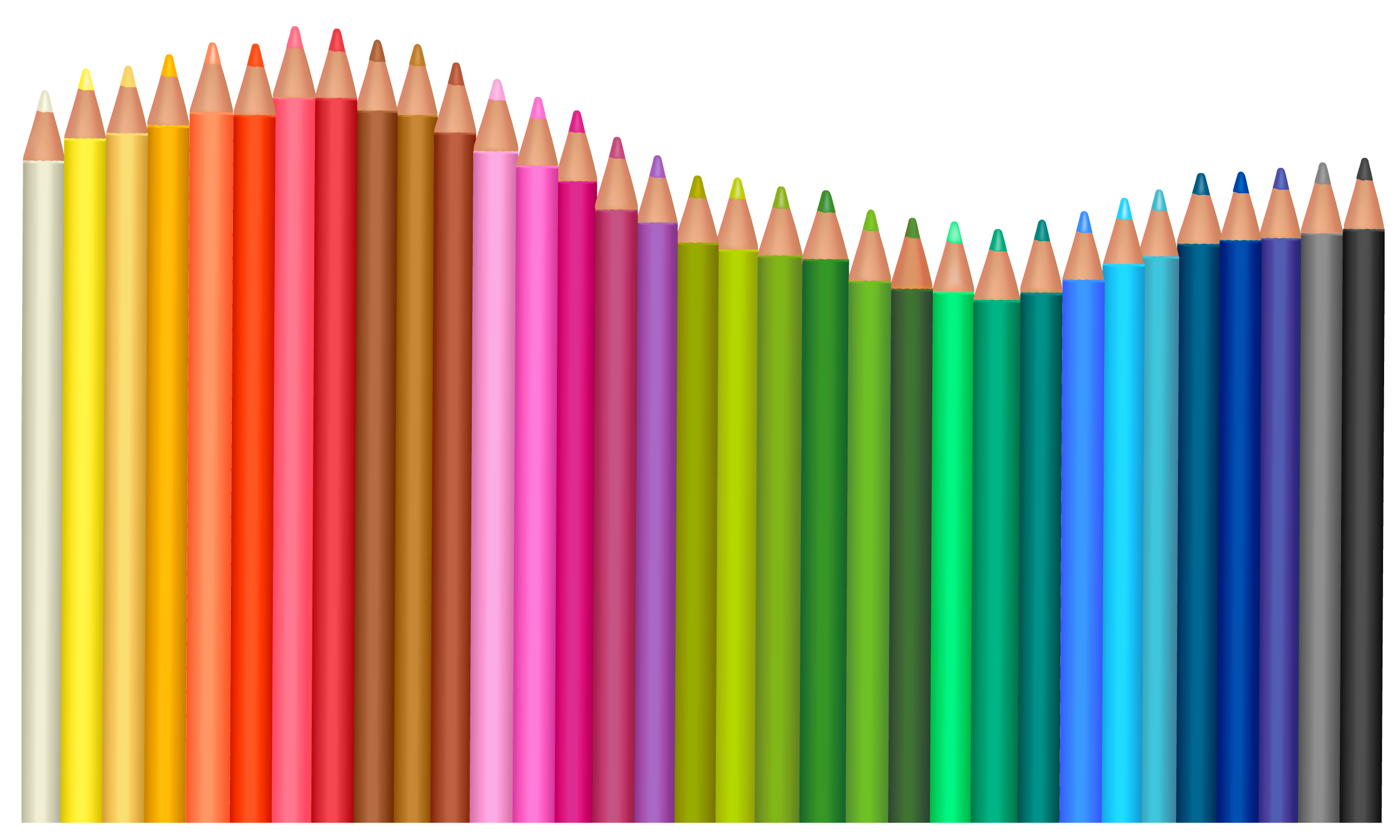 vector freeuse library Transparent Pencils PNG Vector Clipart