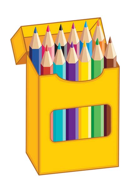 clip library download Crayons ecole scrap couleurs. Box clipart colored pencil.