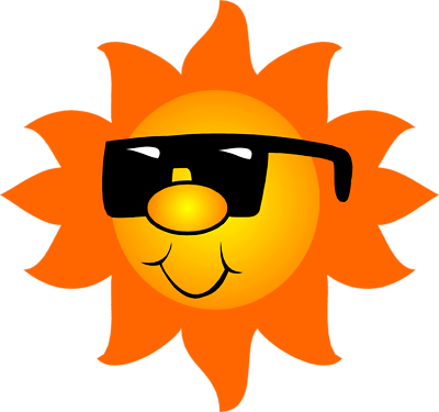 clipart transparent library Sun With Shades Clipart