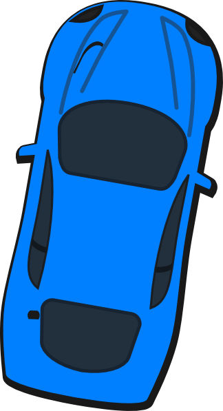 graphic royalty free library 80 clipart 80 car. Blue top view clip