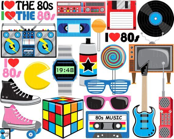 svg download 80's clipart theme. I love the s