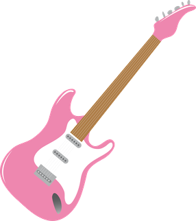 clipart black and white download 80 clipart pink guitar. M sica minus pop